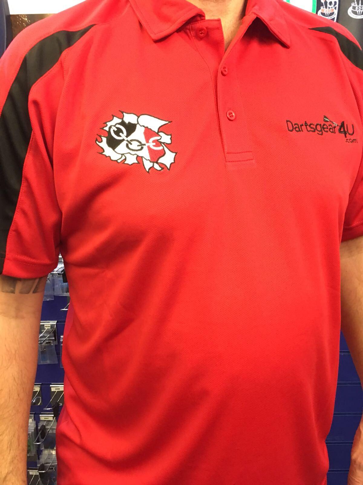Dartsgear4u Black Country Arrow Redblack Polo Shirt Free Pp